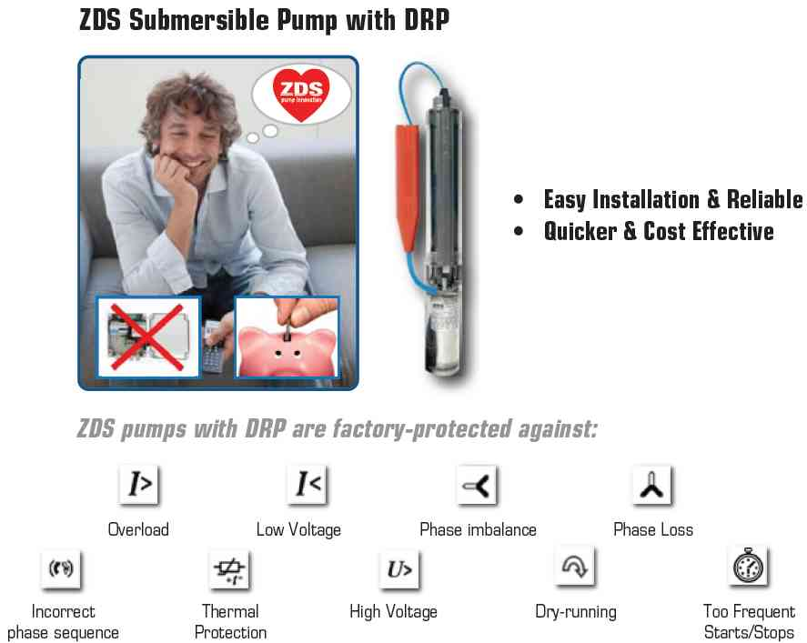 ZDS Submersible pump with DRP