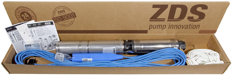 "4"" borehole pump in one package"